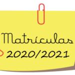 Matrículas – EDUCAÇÃO PRÉ ESCOLAR E 1º ANO DE ESCOLARIDADE